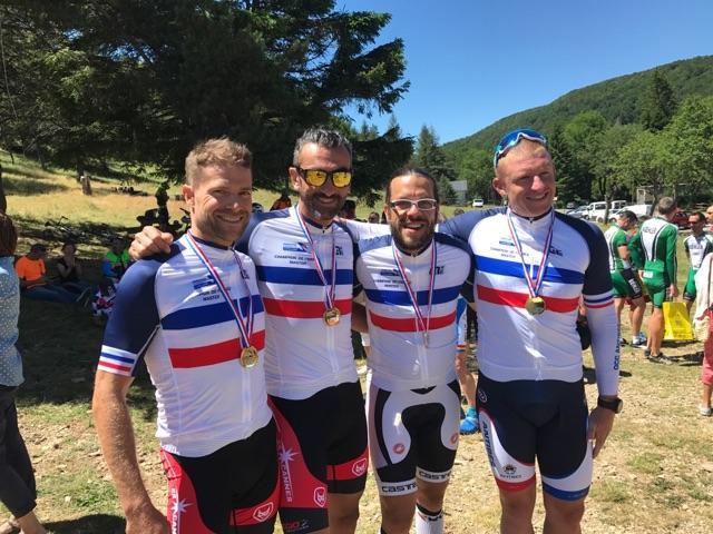Julien Plumer, Laurent Gonzalès, Fabrice Martz et Stéphane Didier.