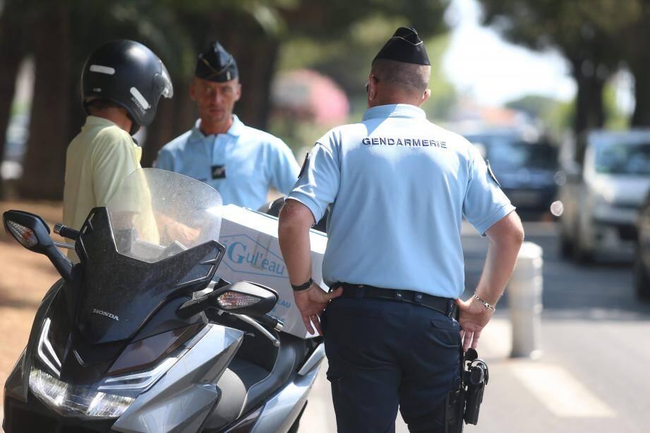 L'un des contrôles organisé vendredi sur les routes du département. A Villeneuve-Loubet, 44 infractions ont été relevées.