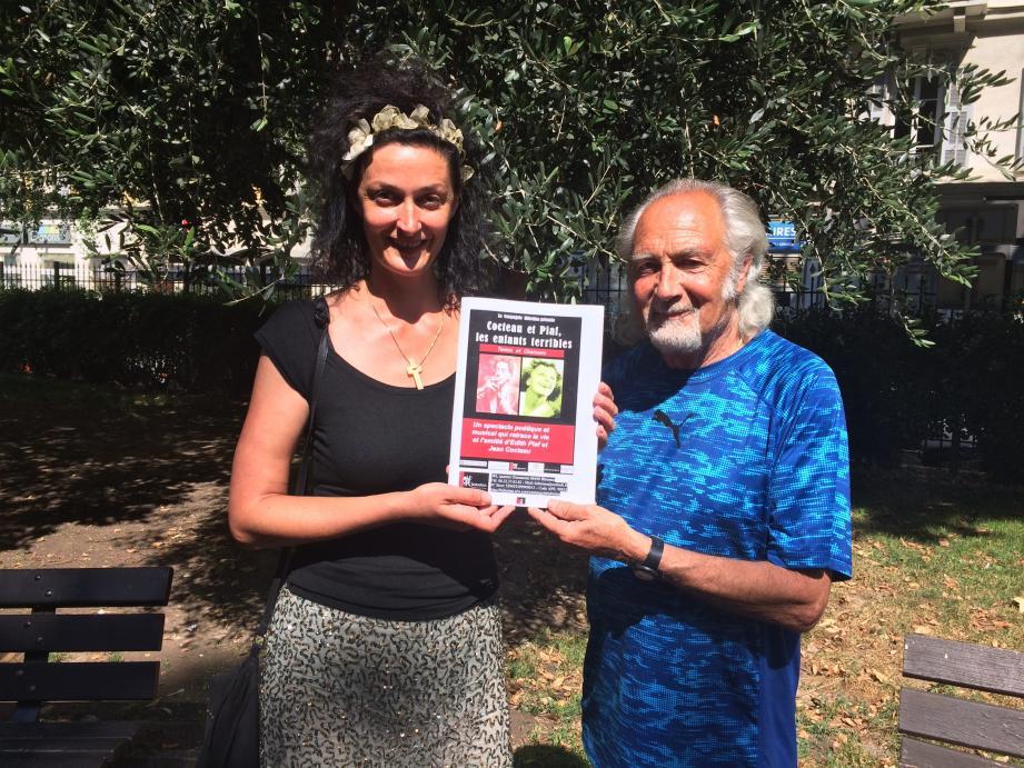 Christelle et son père, Fernand Gasiglia, amoureux des beaux textes.