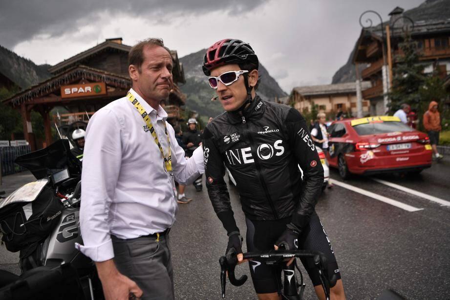 « L'audace des champions », la clé du succès  de ce Tour selon son directeur ici avec Geraint Thomas.(Ph AFP)