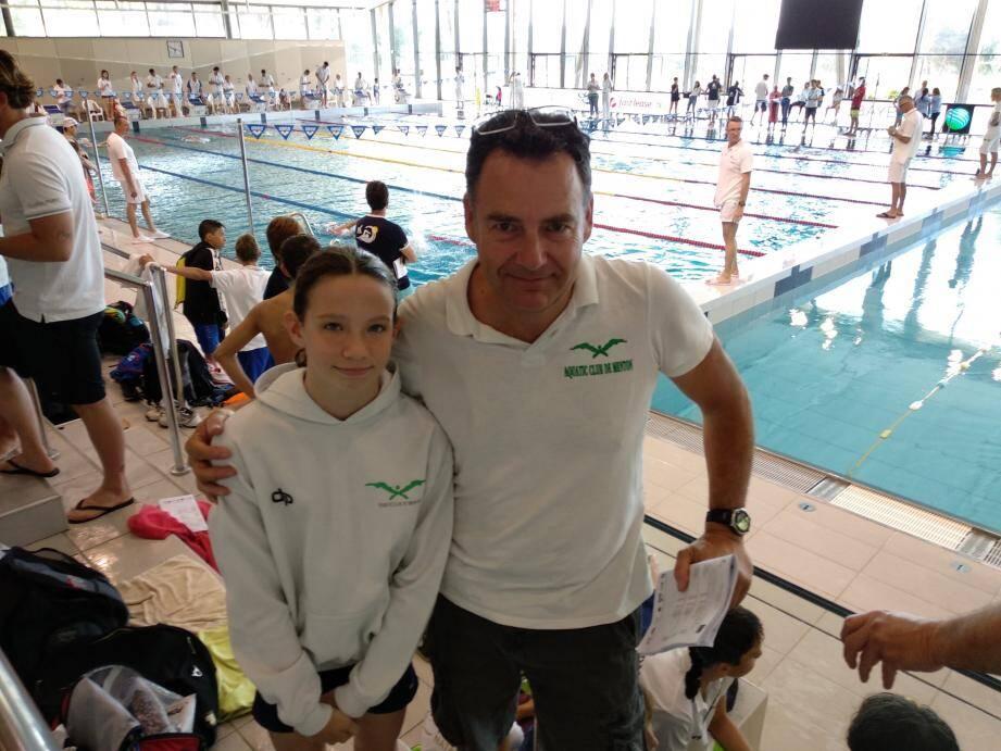 Lola Sasselli et son entraîneur Jean-Luc Soler. (DR)