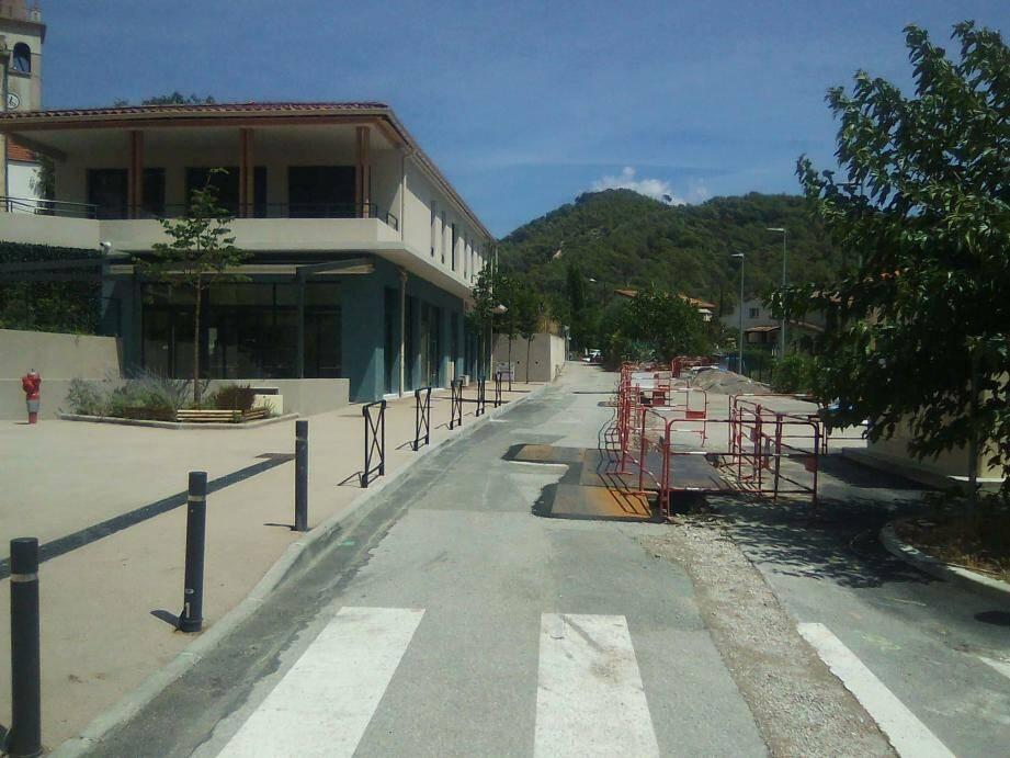 L'aménagement du centre village au hameau de la Pointe est en bonne voie.