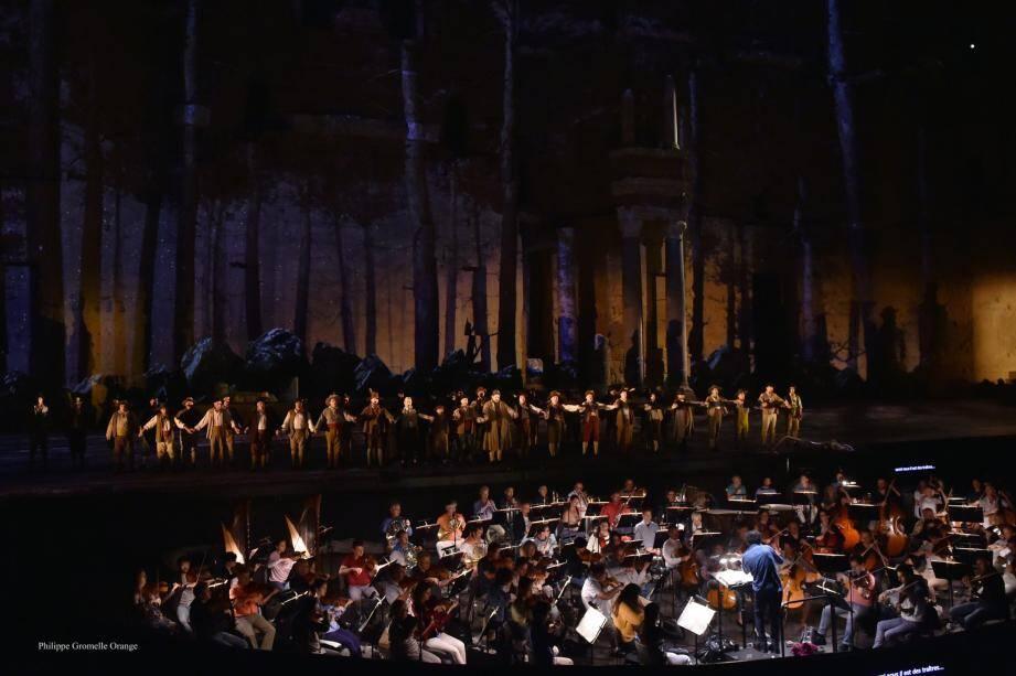 Le Philharmonique dans le Théâtre antique d'Orange, le week-end dernier.