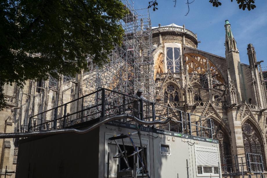 Vue de Notre-Dame de Paris, le 24 juillet 2019