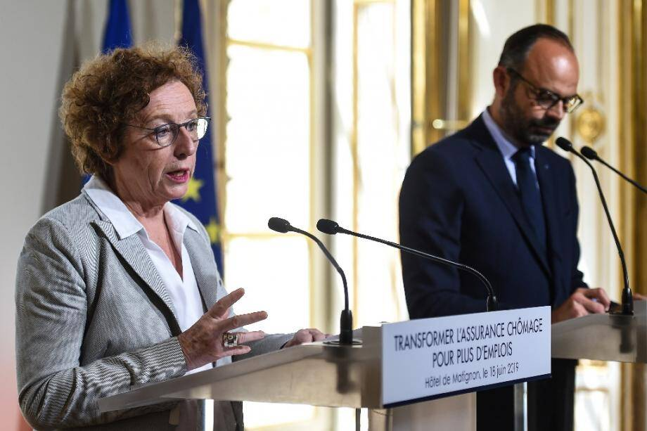 La ministre du Travail Muriel Pénicaud présente la réforme de l'assurance chômage lors d'une conférence de presse à Matignon, le 18 juin 2019