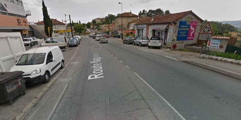 L'accident a eu lieu avenue Georges Pompidou, à Grasse.