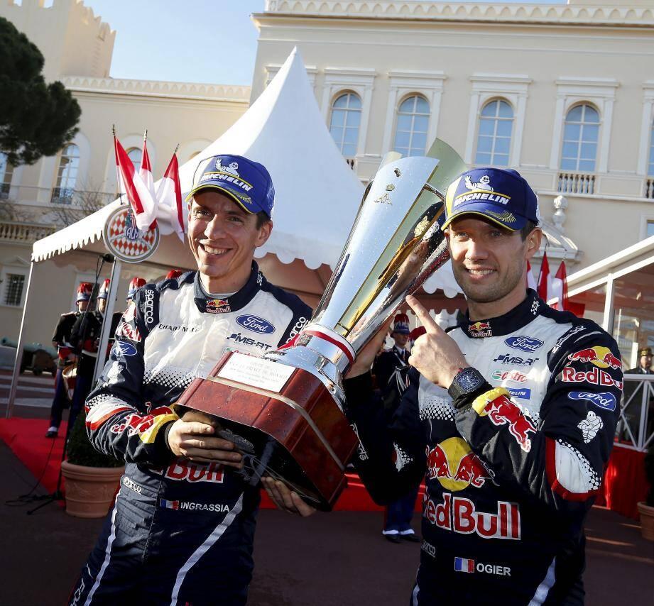Sébastien Ogier et Julien Ingrassia, vainqueurs du 86e Rallye Monte-Carlo.