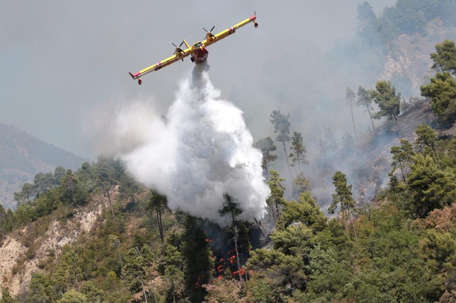 Un incendie a ravagé deux hectares de forêt à Lucéram.