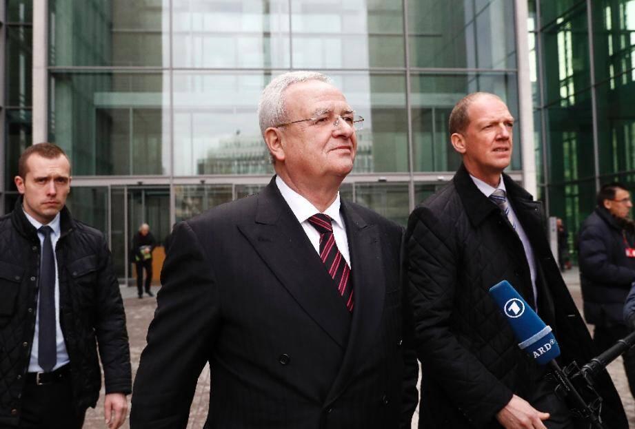 L'ex-dirigeant d'Audi Martin Winterkorn le 19 janvier 2017 à Berlin en Allemagne