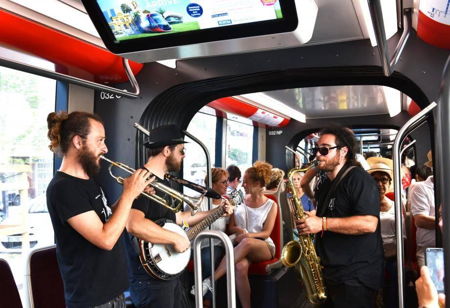 Le jazz s'invite aussi dans le tram.