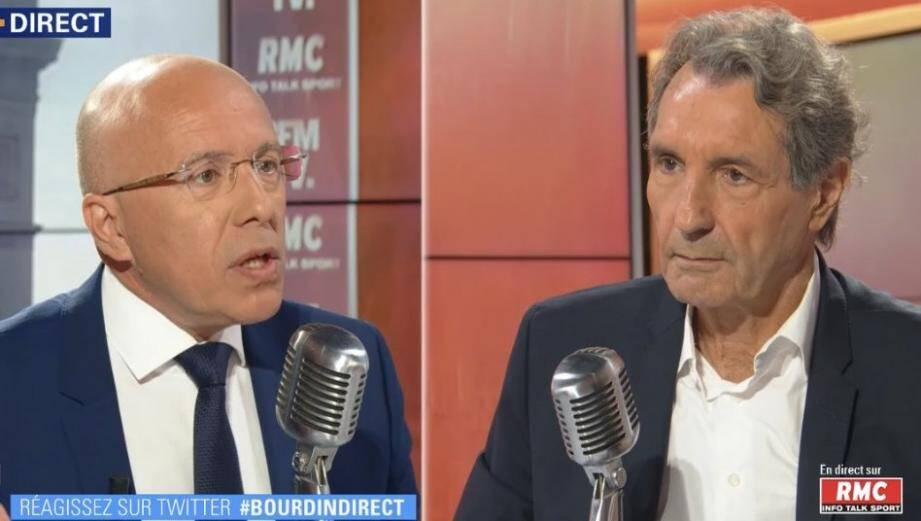 Eric Ciotti, inivité de Jean-Jacques Bourdin, indique qu'il se prononcera d'ici à quelques semaines.