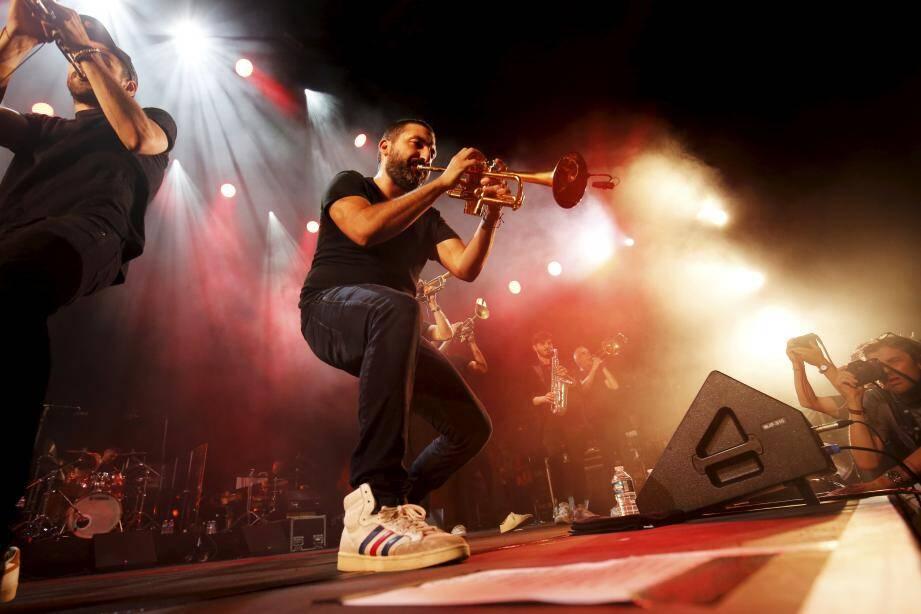 Concert d'Ibrahim Maalouf au Nice Jazz Festival.