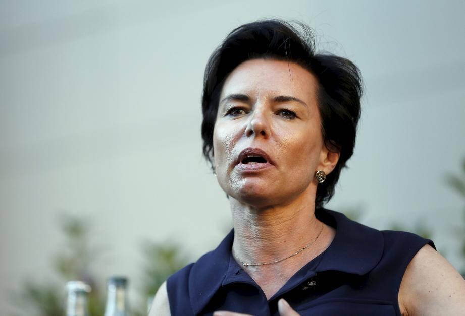 Laurence Sailliet à Monaco en 2017 durant la campagne des législatives 2017.