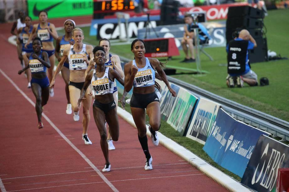 L'Américaine Ajee WILSON a remporté le 800m femmes ce vendredi à Monaco.