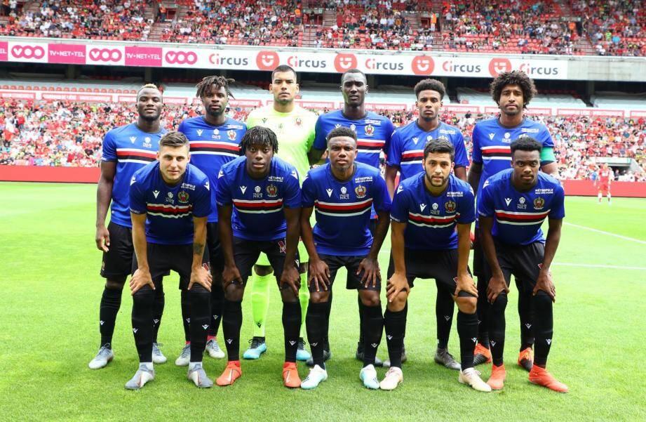 Le onze niçois qui a débuté la partie face au Standard.