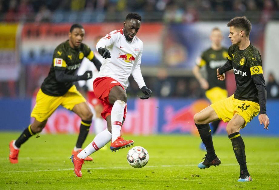Jean-Kevin Augustin avec le RB Leipzig.