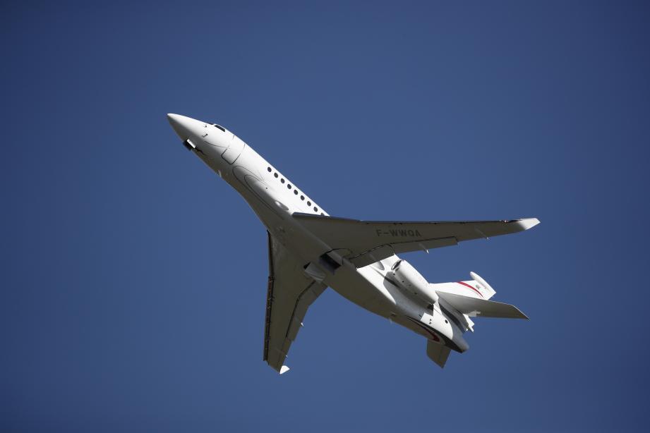 Photo d'illustration d'un avion Falcon 8X.