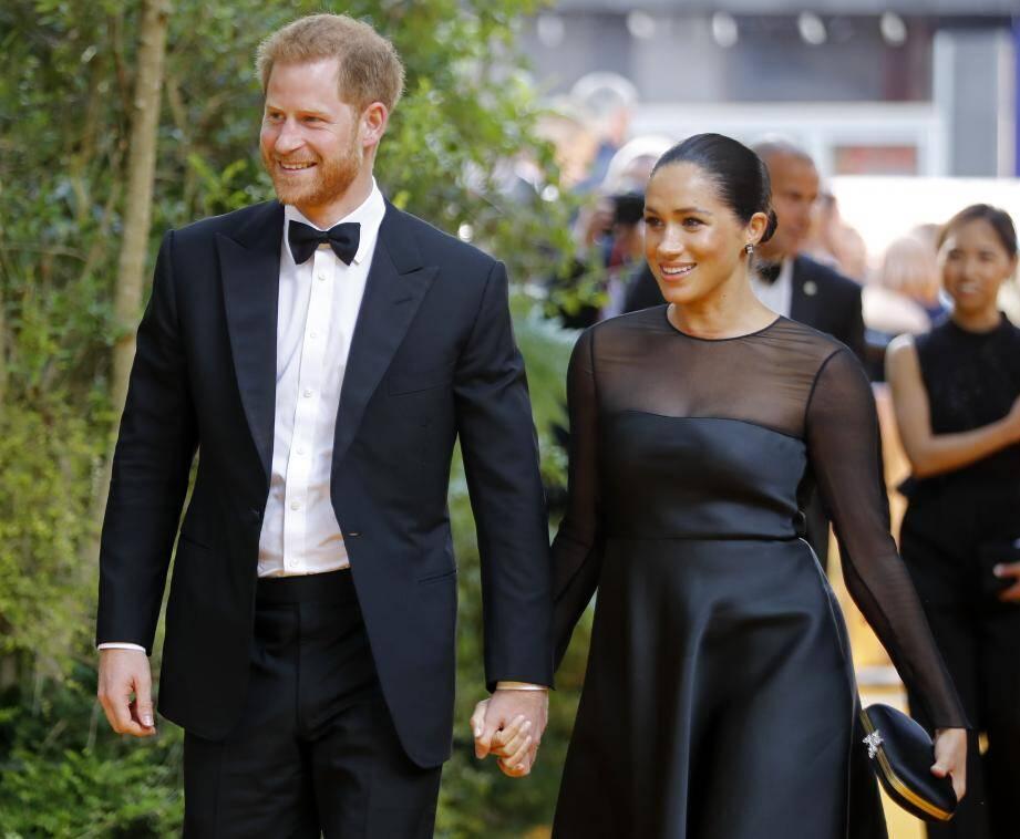 Le prince Harry et Meghan pour la première du Roi Lion en juillet dernier à Londres.