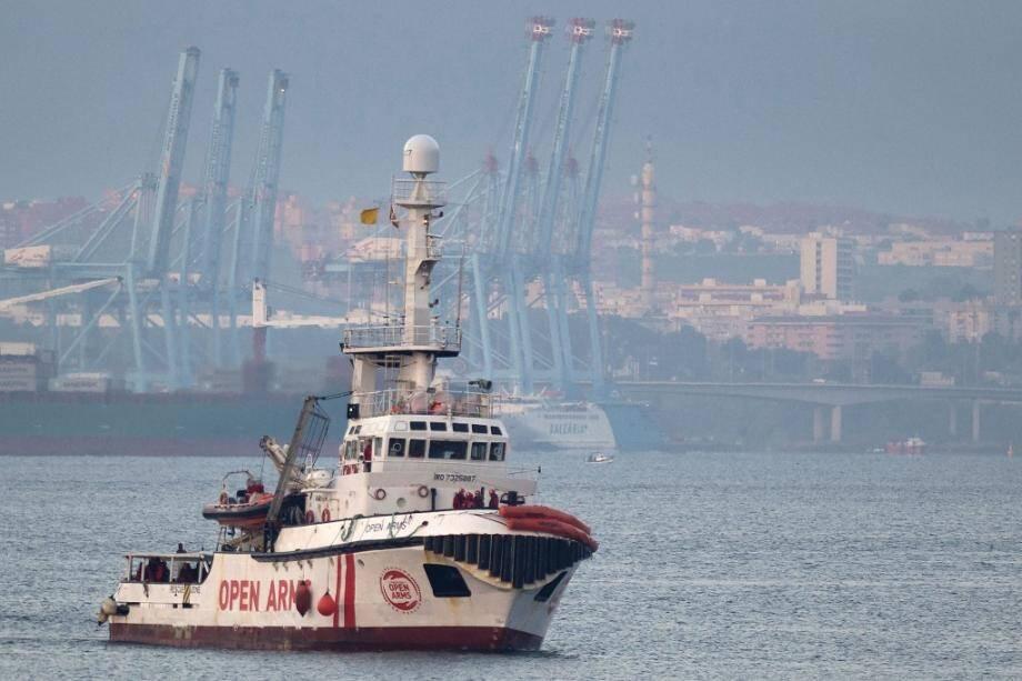 Le navire humanitaire espagnol Open Arms, le 28 décembre 2018, avec 311 migrants à son bord.