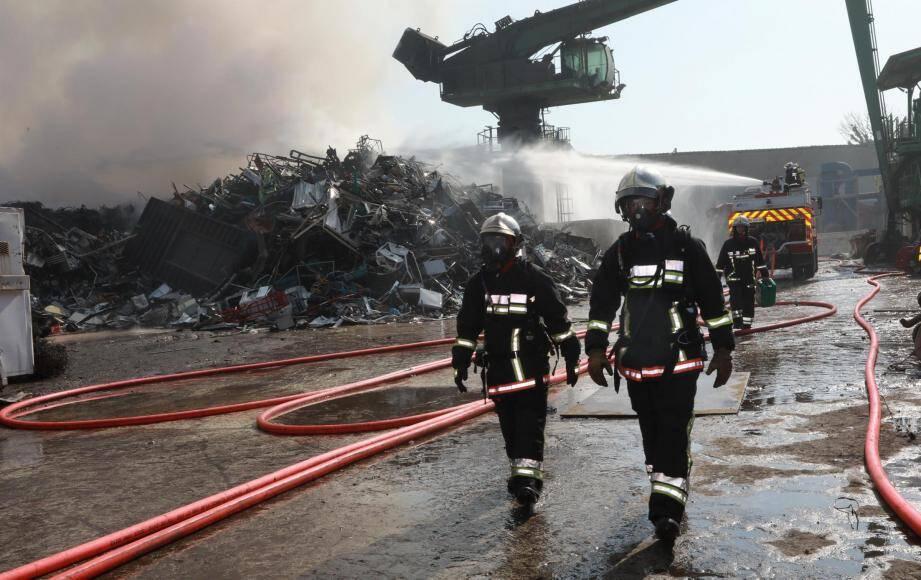 Incendie à La Crau.