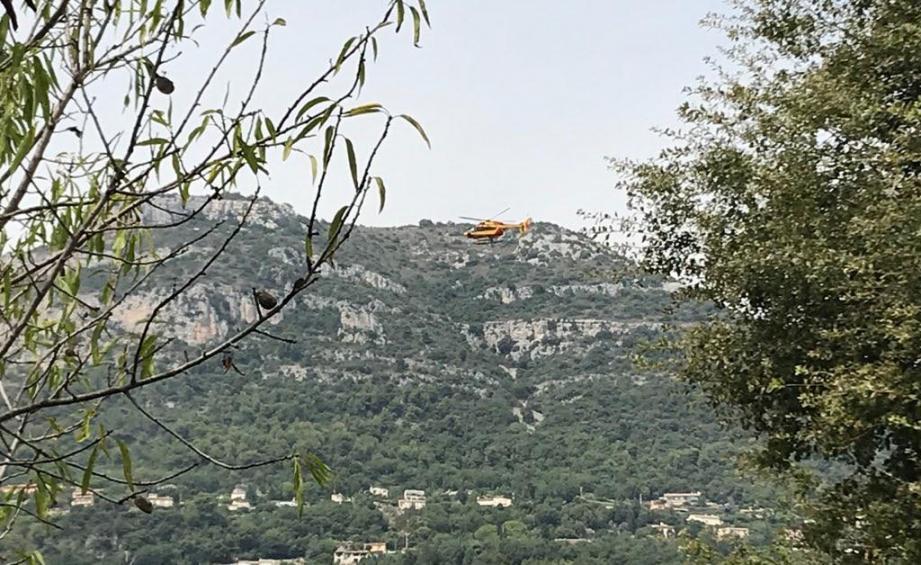 La victime a été transportée vers l'hôpital Pasteur 2 à Nice en hélicoptère