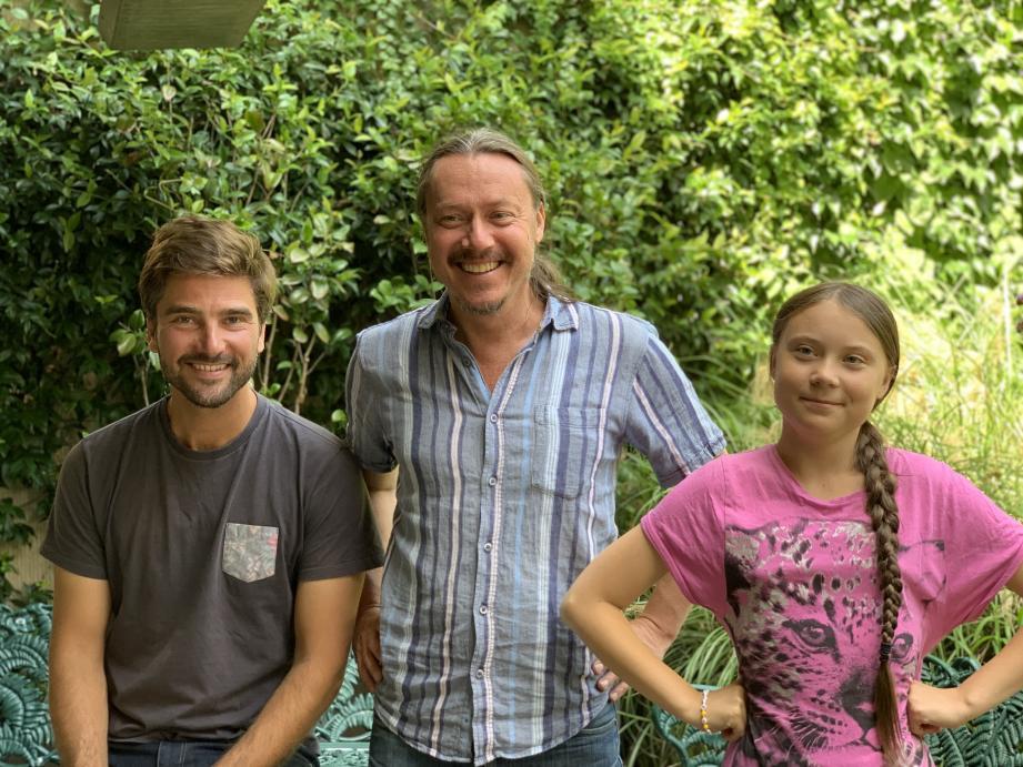 La jeune Greta et son père Svante Thunberg ont rencontré le skipper Boris Herrmann pour préparer ce voyage.