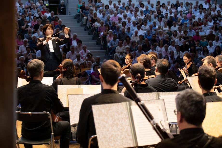 Le Philharmonique de Monaco a connu, cette semaine, un véritable succès au Festival de piano de la Roque d'Anthéron, sous la baguette de son directeur Kazuki Yamada.
