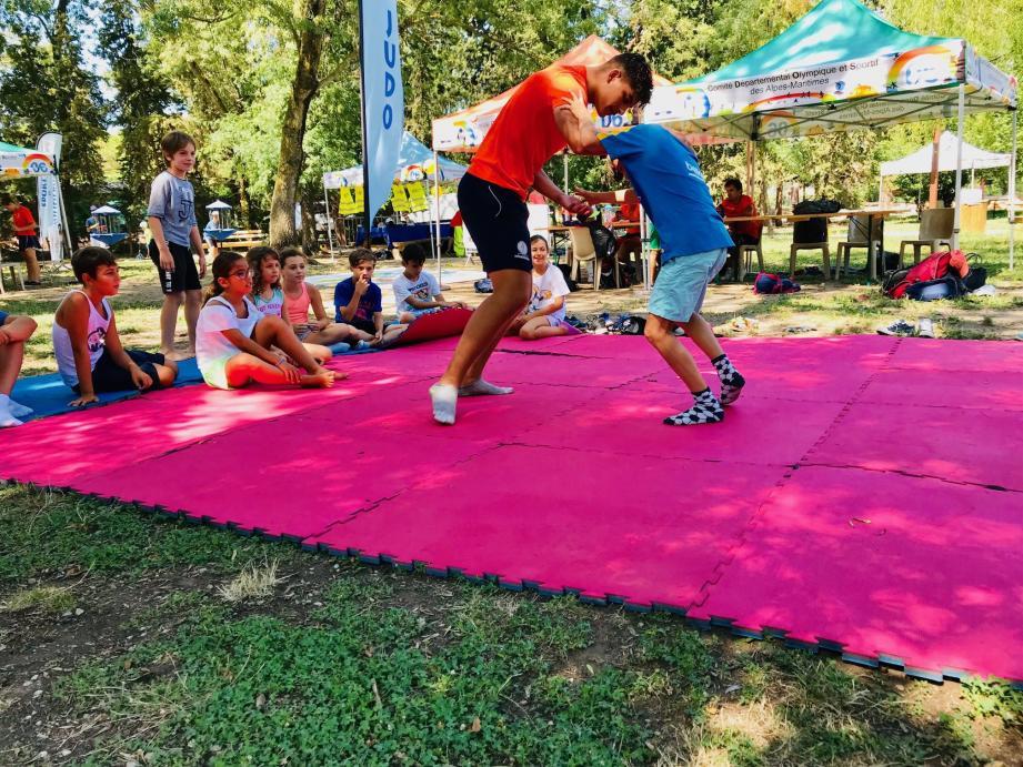 Une foule d'activités sportives sont proposées à l'essai aux enfants pour les aider dans leur choix pour la rentrée.