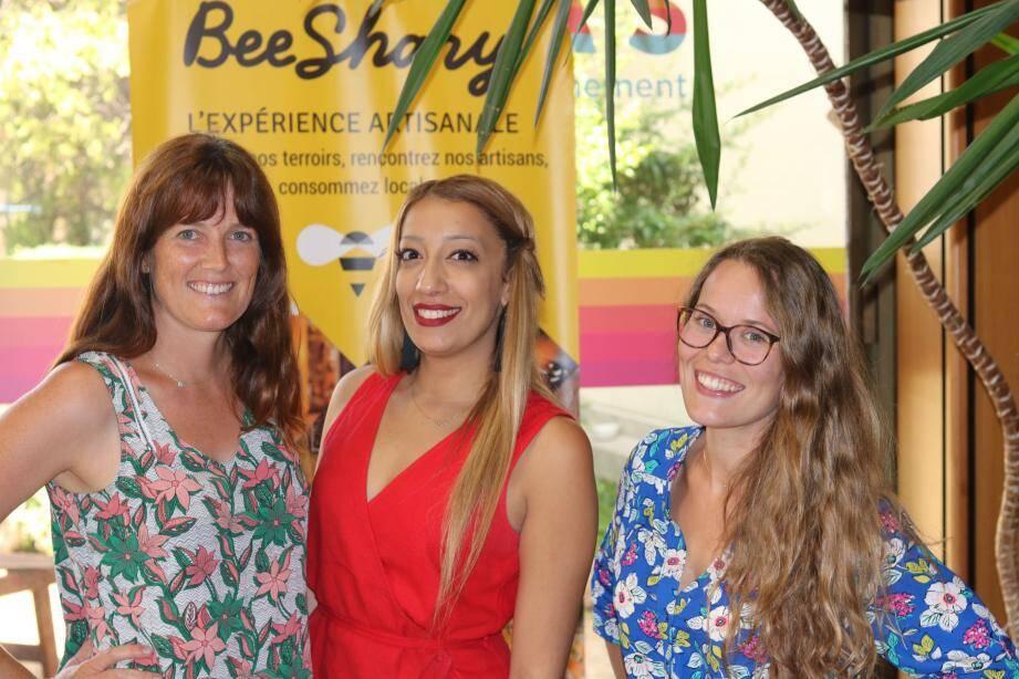 Nathalie Wainman, associée ; Houda Behidji et Clara Baglione, cofondatrices de l'application Beeshary.
