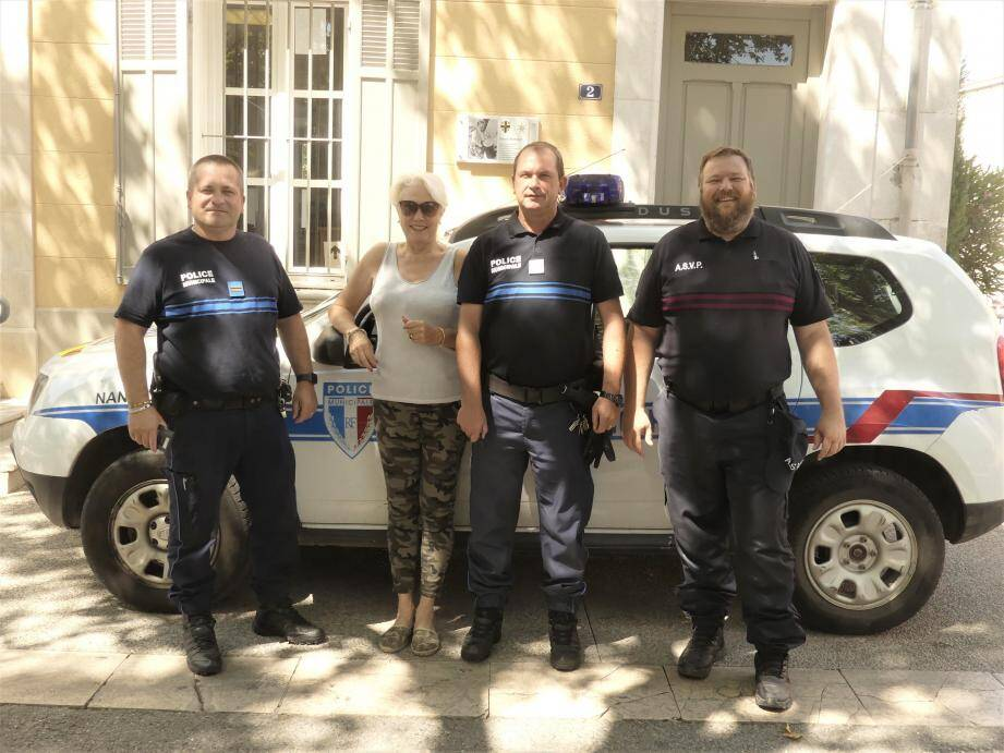 L'équipe de la police municipale veille à la sécurité des Nansais.