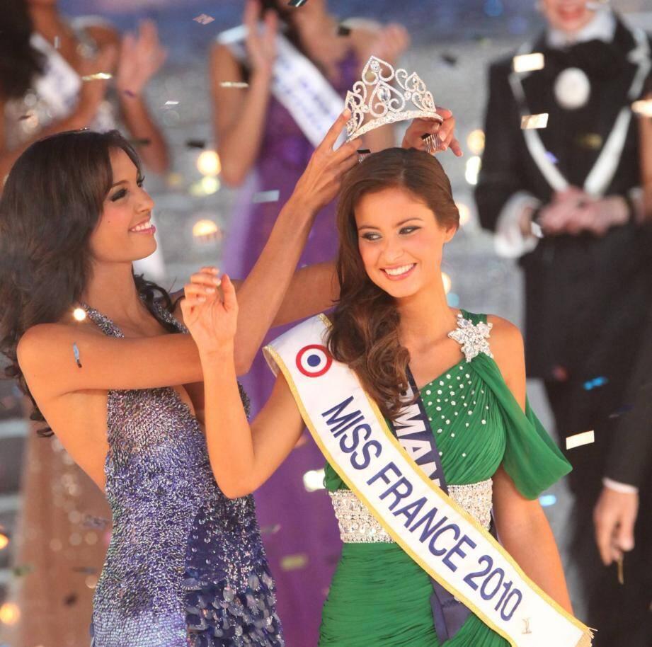 Malika Ménard a été élue Miss France 2010 le 5 décembre 2009 au palais Nikaia.