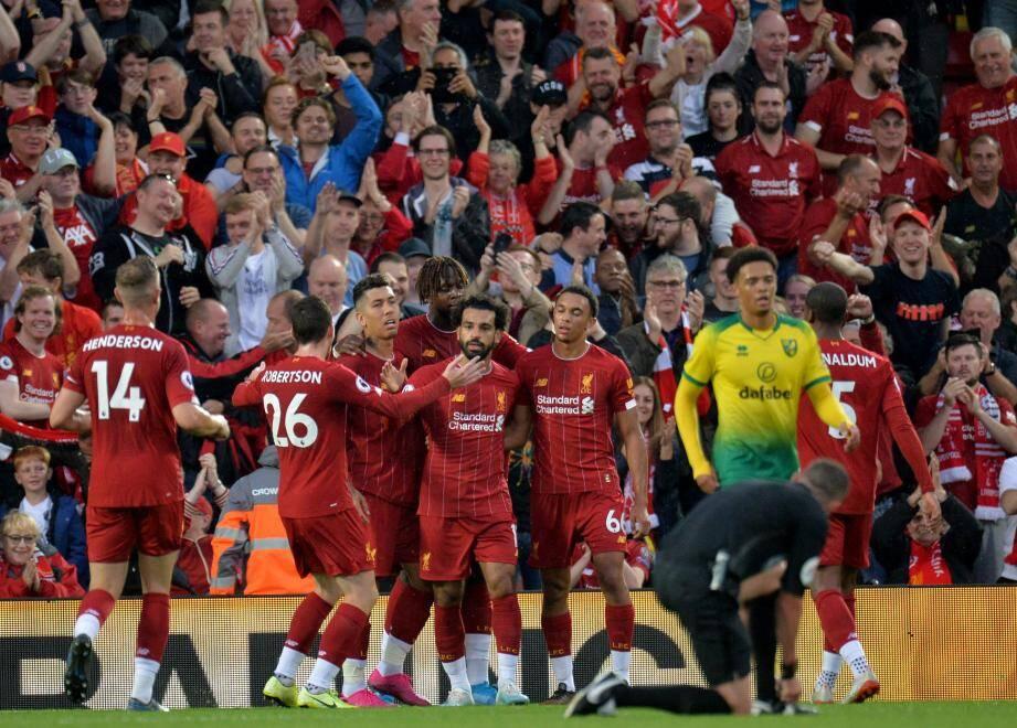 Hier soir, à Anfield, les Reds de Liverpool ont donné le ton en plumant les Canaris de Norwich : 4-1 !
