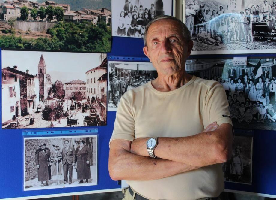 René Sciarli expose des clichés qui mettent en lumière l'histoire des familles du village. Le rendez-vous est organisé ce jeudi.