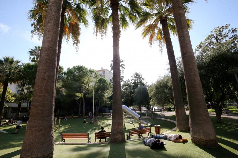 Rudy Salles avait proposé les jardins de la villa Thiole pour l'événement.