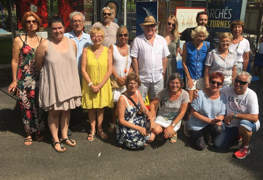 Une quarantaine de peintres sont présents ce dimanche pour la seconde session du « Dimanche des peintres ».