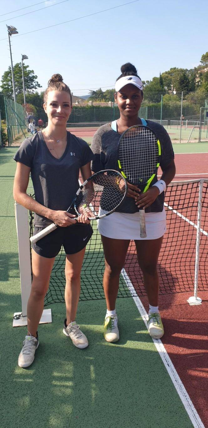 Juien Bertrand et Solange Emidof, finalistes du simple dames.