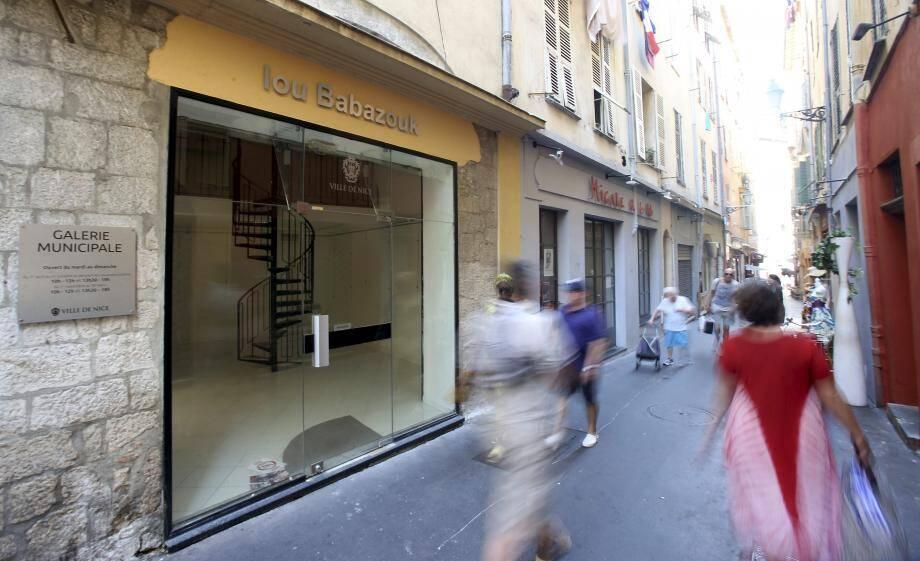 La galerie municipale doit être inaugurée ce matin par le maire en présence, notamment, de la première artiste : Jo Guichou.
