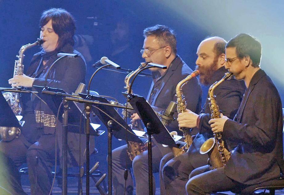 Pas moins de quatre sax alto seront ce soir sur la scène du théâtre pour le concert de cloture.(DR)