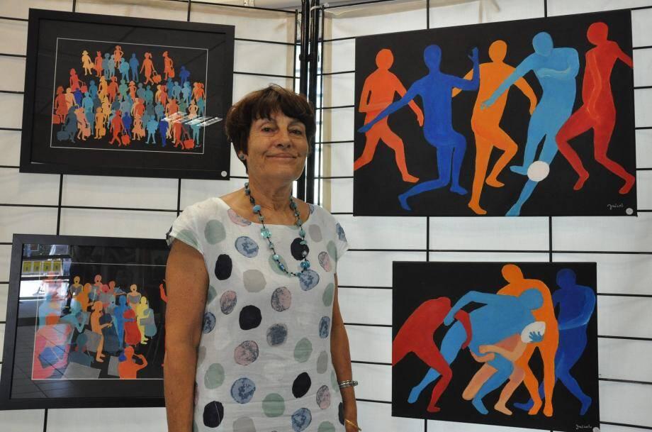 Janine Nicol, présente sa nouvelle collection artistique.