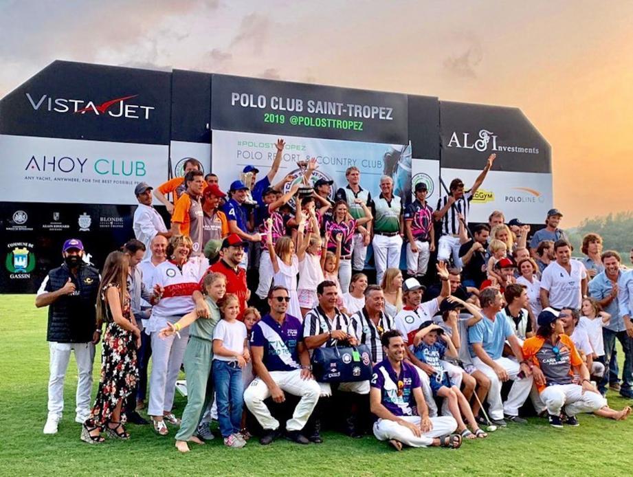 Le podium était joyeux à l'issue de la prestigieuse Côte d'Azur Polo Cup.