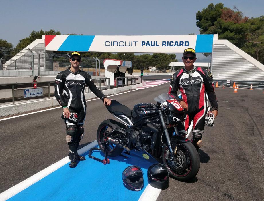 De gauche à droite Arnaud et Gérard Soria.