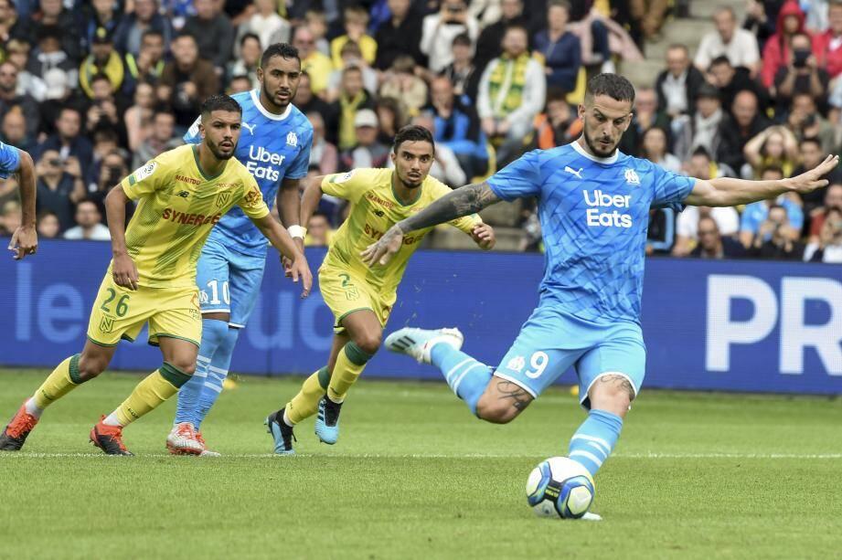 Benedetto a manqué son penalty à Nantes. L'OM n'a inscrit aucun but lors de ses deux premiers matchs en Ligue 1 cette saison.