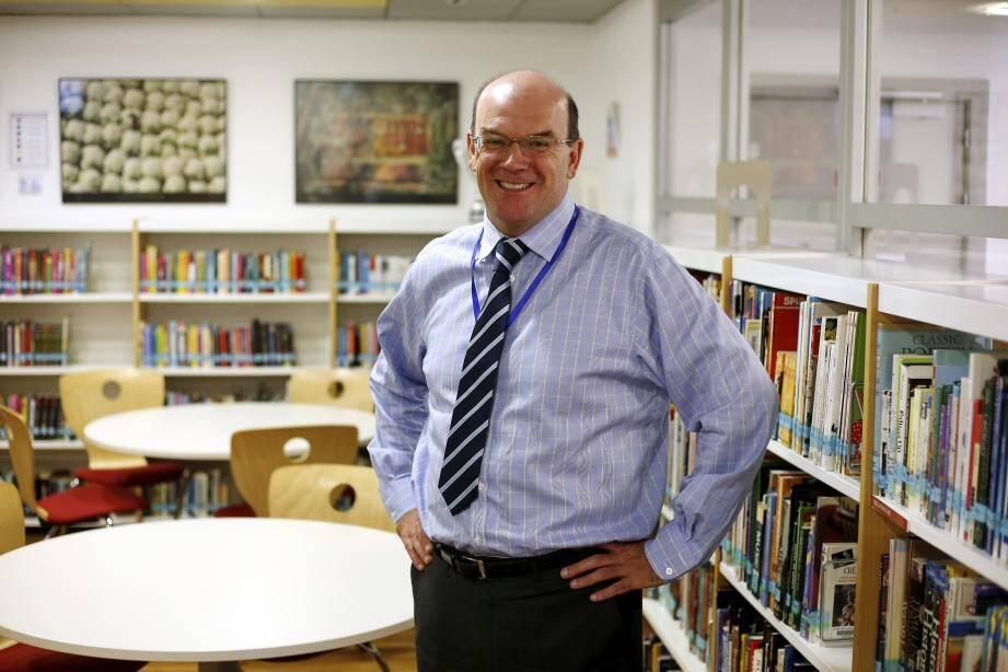 Stuart Burns, nouveau directeur de l'International School of Monaco.