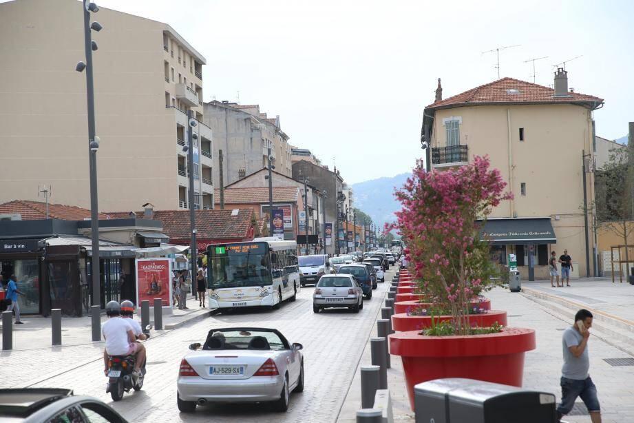 L'avenue Francis-Tonner à Cannes La Bocca.