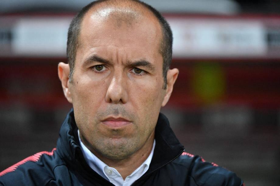 L'entraîneur portugais de l'AS Monaco Leonardo Jardim lors du match de championnat à Nice le 24 mai 2019