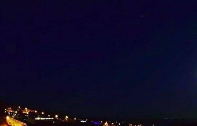 La météorite qui a traversé le ciel méditerranéen.