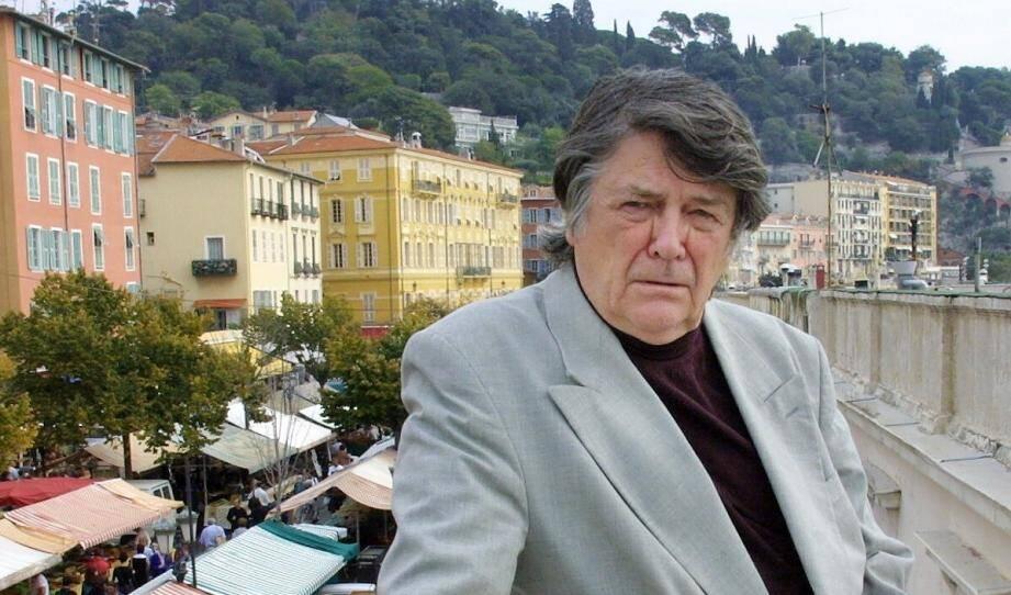 Jean-Pierre Mocky sur le cours Saleya.
