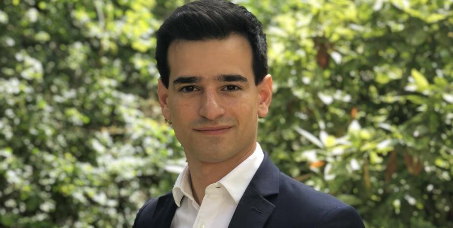 Aurane Reihanian, 26 ans, président des Jeunes Républicains.