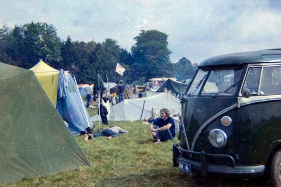 Camping au festival de Woodstock en 1969