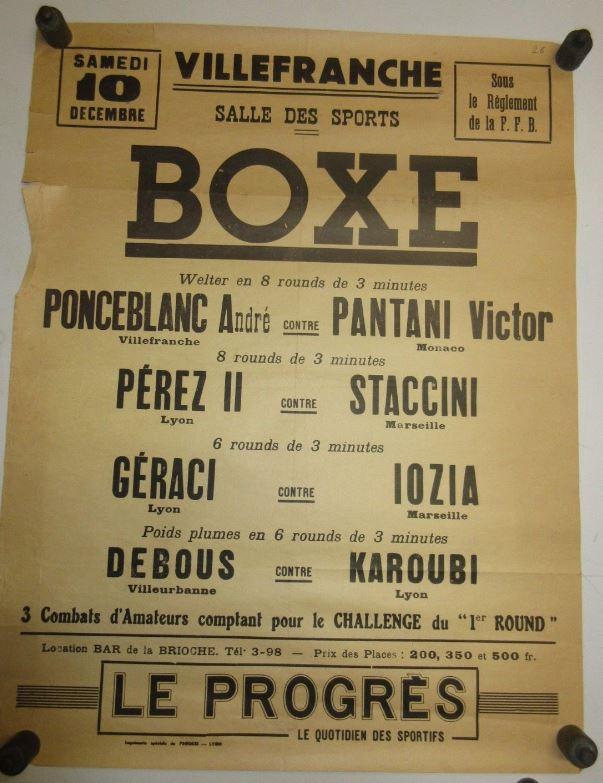 Victor Pantani en tête d'affiche lors d'un combat à Villefranche.